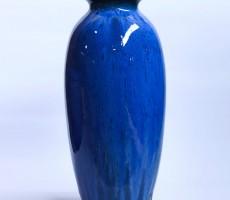 Bình hoa Bát Tràng men hỏa biến xanh, dáng vò cao  miệng vuốt S14